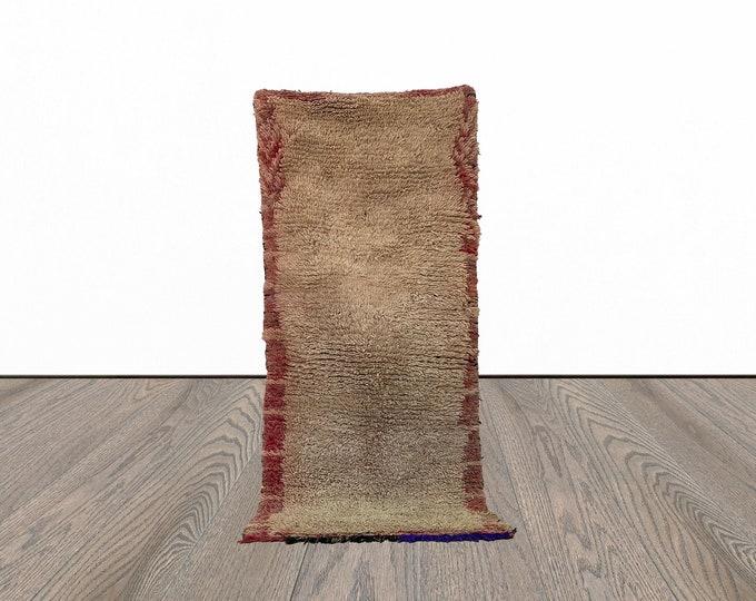 Moroccan narrow runner rug 2x9 ft!