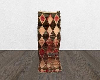 3x7 vintage runner rug, moroccan runner rug, berber runner rug, woven runner rug, azilal runner rug.