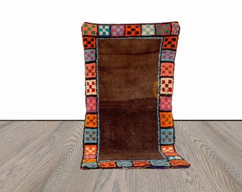 Moroccan Berber woven area rug 4x7 ft!