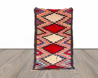 Moroccan colorful area rug 3x6 ft!