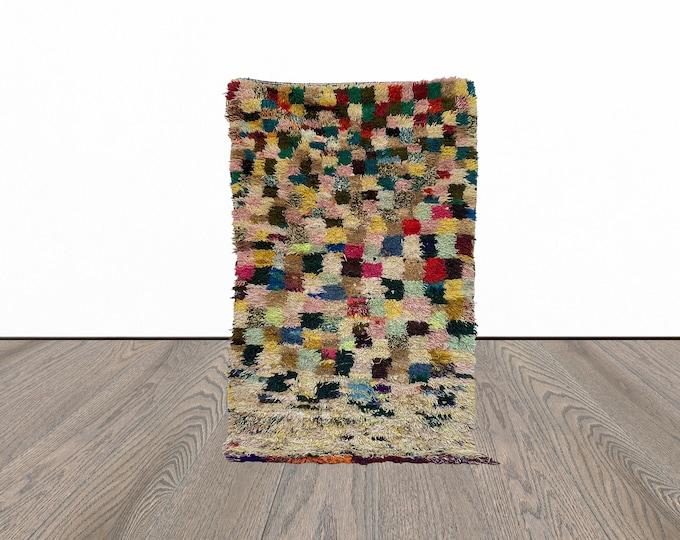 Vintage Berber Moroccan area rug 4x6 ft!