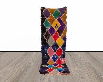3x9 ft Moroccan colorful Berber runner rug!