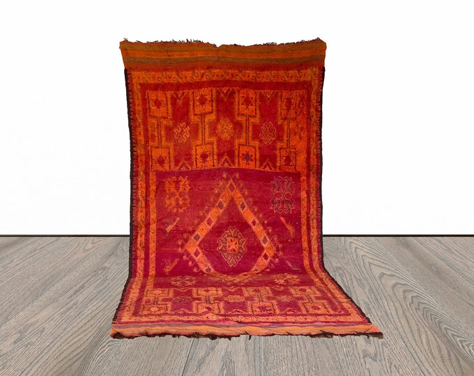 7x14 ft vintage woven large Moroccan rug!