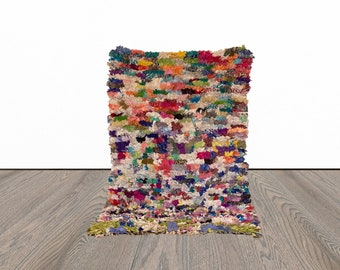 3x5 ft vintage small colorful Moroccan rug!