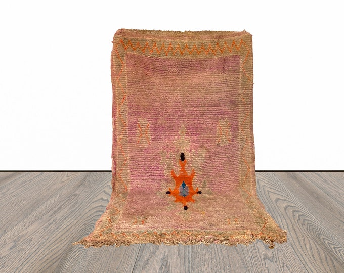4x4 ft small Moroccan vintage Berber rug!