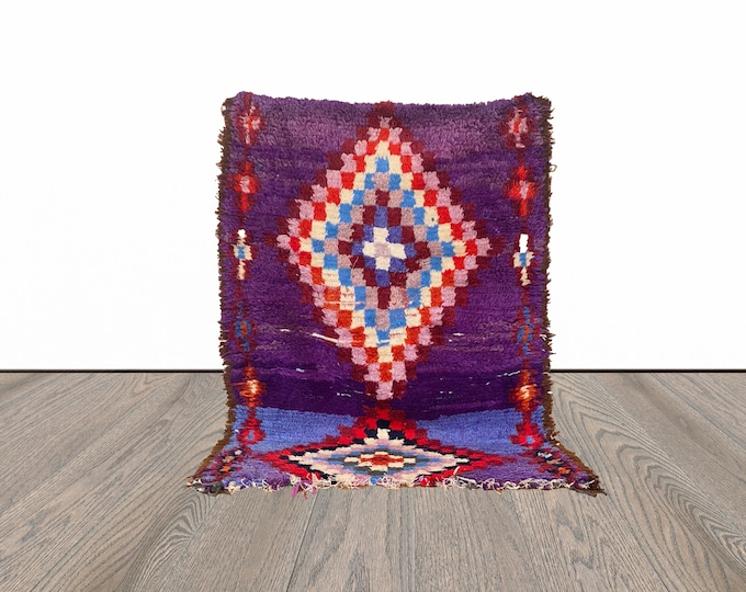 3x4 ft small Moroccan vintage Berber rug!