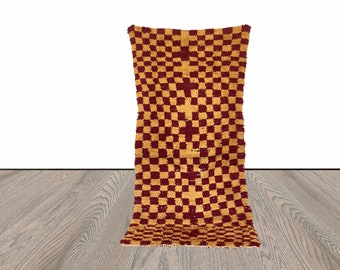 3x7 ft Moroccan checkered area rug!