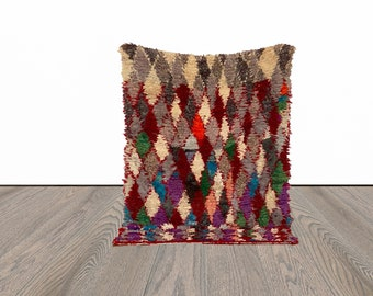 Moroccan colorful small rug 3x5 ft!