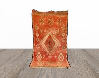Moroccan vintage Berber rug 6x10 ft!