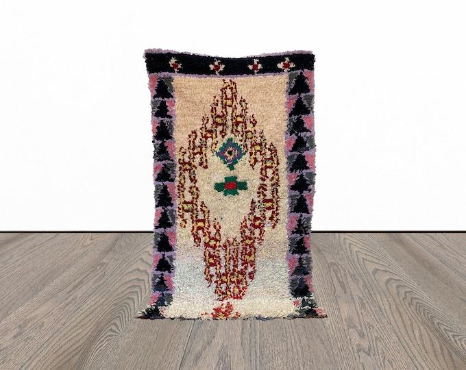 Boucherouite  Moroccan area rug 3x5 ft!