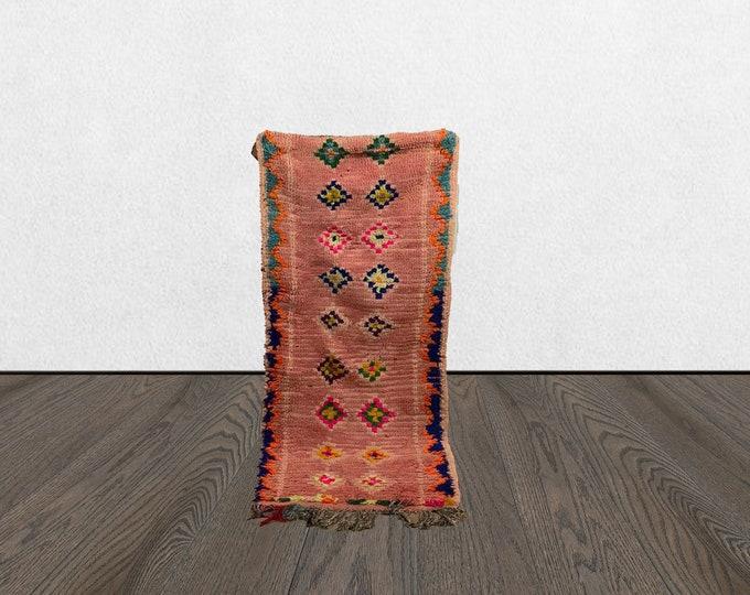 vintage colorful azilal rug, 3x6 berber area rug, woven berber rug, berber vintage rug, bohemian area rug, vintage boho rug.