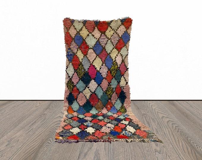 3x7 ft Moroccan vintage Berber rug!