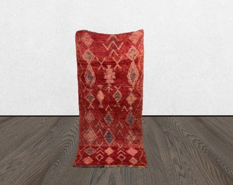 moroccan wool rug, 4x8 moroccan berber rug, vintage area rug, azilal vintage wool rug.