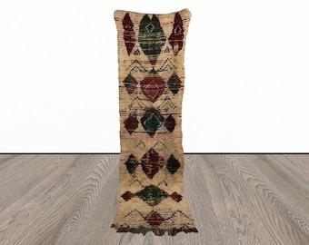 Vintage 3x9 runner rug, Moroccan rug runner, tribal runner rugs, Berber runners, morrocan runner rug, kitchen runner