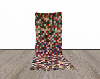3x7 ft Berber woven Moroccan area rug!