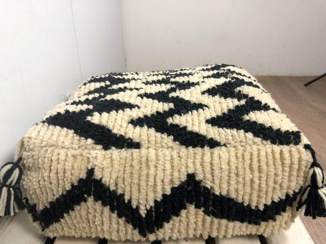 "Morrocan Chevron Pouf, Chevron floor pouf, Childrens pouf, Moroccan berber Chevron Floor Cushion, nursery pouf, *unstaffed"""