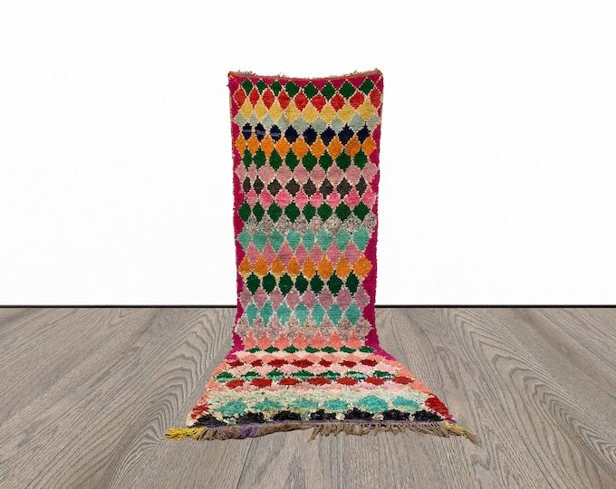 4x10 ft vintage Boucherouite Moroccan rug!
