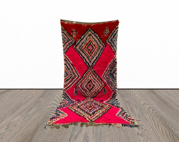 5x9 ft vintage colorful Moroccan rug!