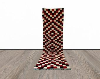 Moroccan checkered Berber runner rug 3x9 ft!