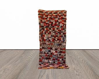 3x8 ft Moroccan Boucherouite area rug!