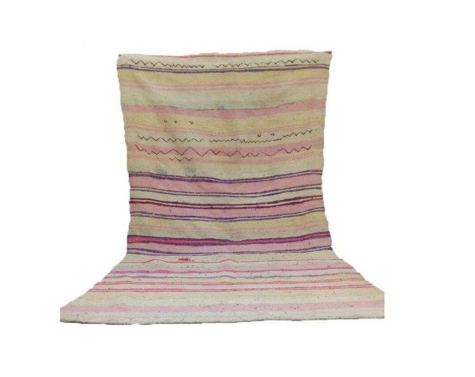Moroccan berber wool blanket vintage, morrocan azilal boho woven blankets.