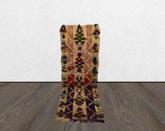 moroccan rug runner, 2x6 old runner rug, berber rug runner, colorful vintage moroccan runner rug.