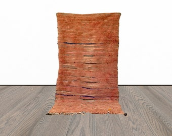 3x7 ft Berber Moroccan pink area rug!