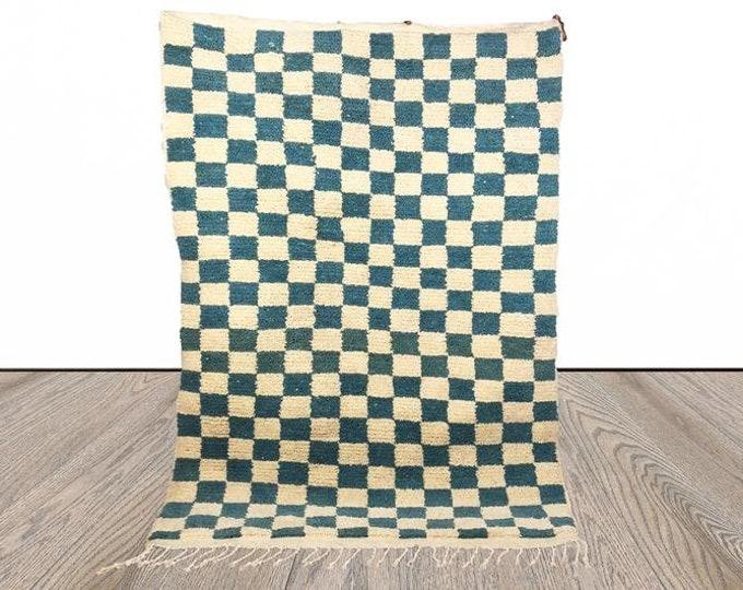 Light Blue Moroccan Checkered rug!