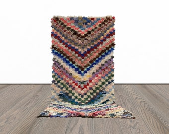 3x6 ft Boucherouite colorful Moroccan rug!