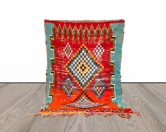 3x6 ft vintage Moroccan woven rug!