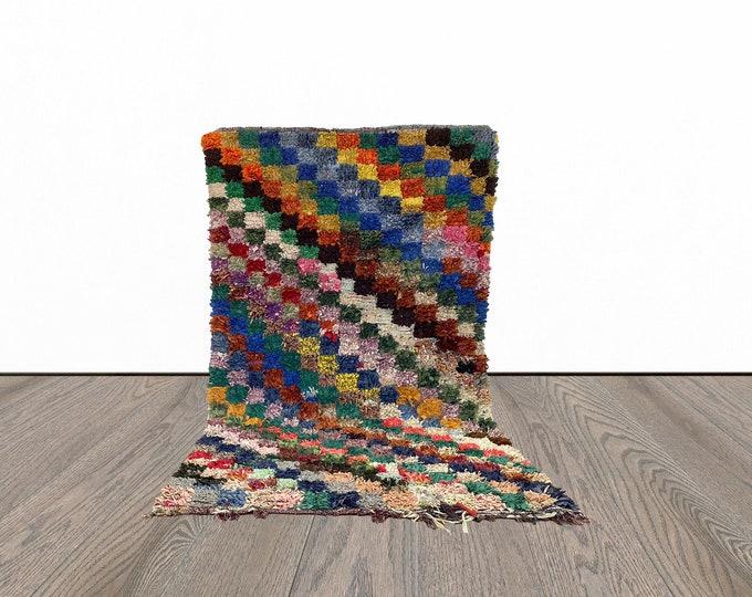 4x7 ft Boucherouite Moroccan area rug!