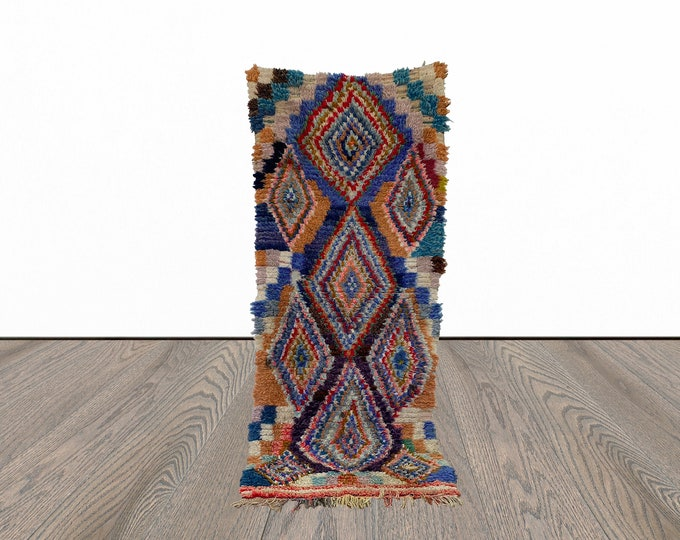 3x7 ft Moroccan vintage colorful rug!
