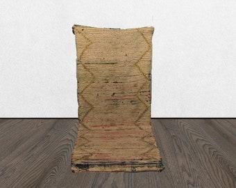 3x6 worn vintage rug runner, Bohemian rug, Morrocan rug, Moroccan boujad rugs, Morrocan rug, Boujaad runner rug, Moroccan Berber Azilal rug