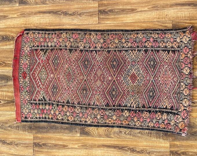 2x4 ft vintage kilim Moroccan area rug!