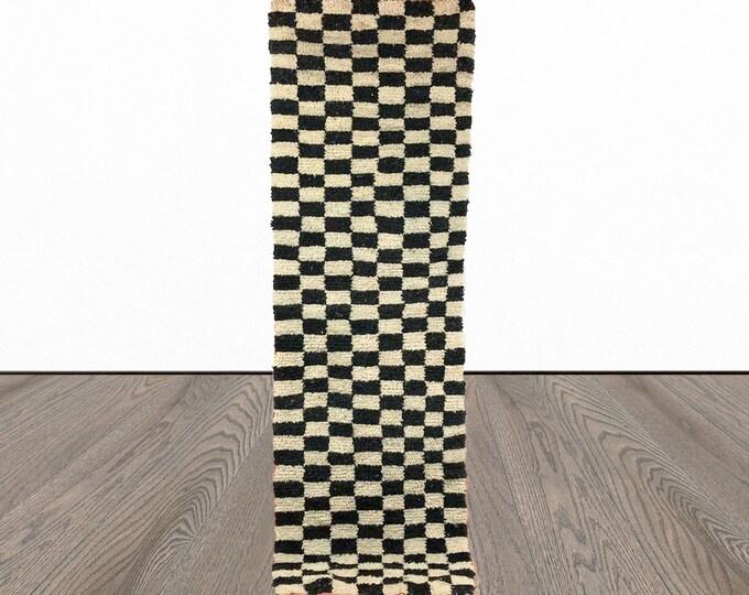 Black and white Checkered runner rug!