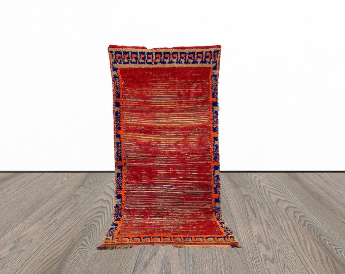 4x7 ft vintage colorful Moroccan rug!