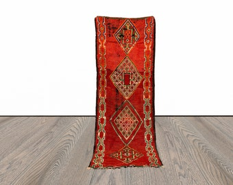 Colorful Moroccan runner rug 3x8 ft!