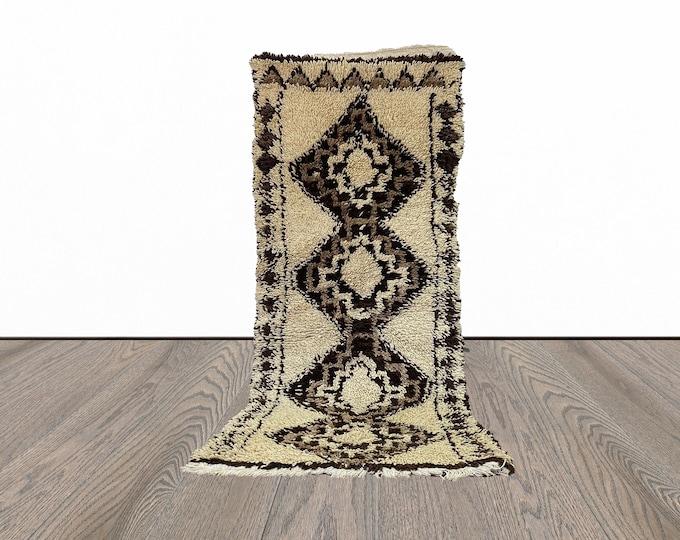 Berber Moroccan woven vintage rug 3x6 ft!