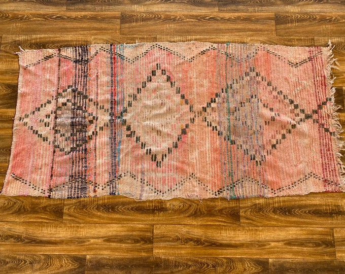 Moroccan vintage area rug 3x6 ft!