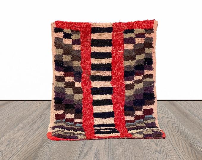 Small Moroccan Berber rug 3x4 ft!