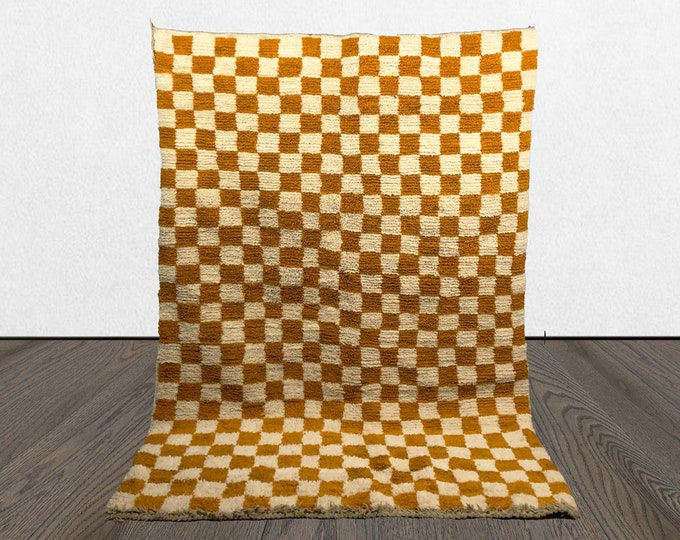 Moroccan Berber Checkered rug, Morocco checker rug, large Morrocan checkerboard rug!