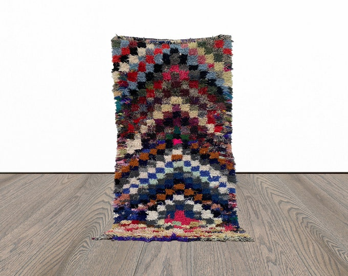 3x7 ft colorful Moroccan vintage area rug!