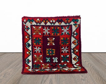 Vintage Moroccan woven small rug 3x4 ft!