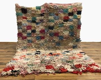 Moroccan Boucherouite Vintage area rug!