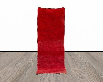 3x8 ft vintage Moroccan red runner rug!