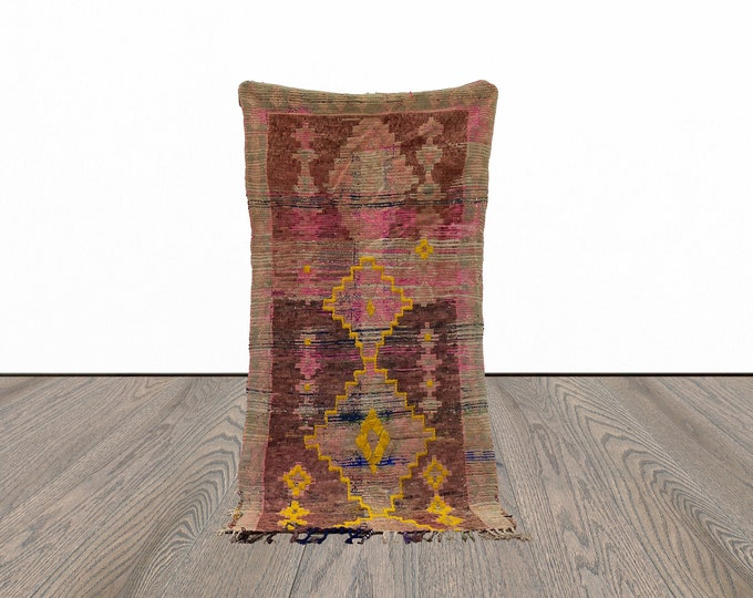 4x7 ft vintage woven Moroccan rug!