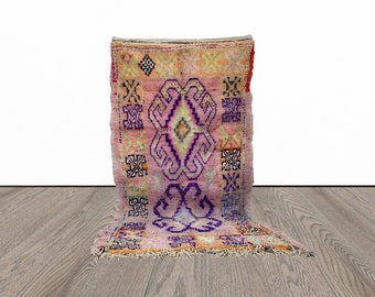 5x10 ft Moroccan large boucherouite rug!