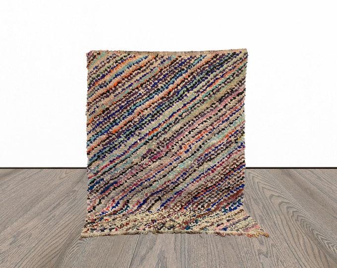 5x6 ft Boucherouite Moroccan area rug!
