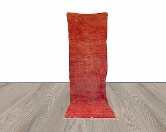 3x9 ft Moroccan Berber wool runner rug!