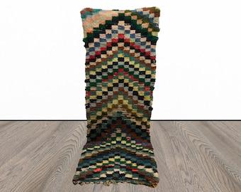 Vintage Moroccan runner rug 3x8!